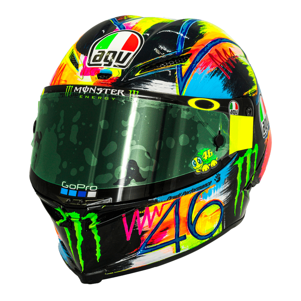 agv pista gp r rossi winter test 2019 motorcycle helmets agv helmets. Black Bedroom Furniture Sets. Home Design Ideas