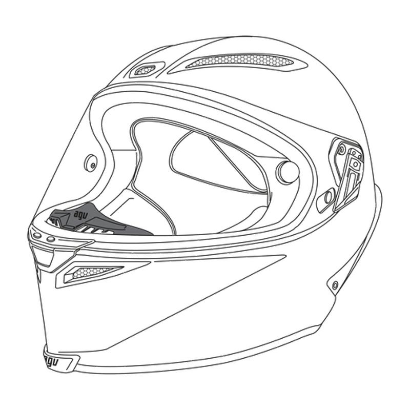 AGV Pista GP-R Breath Deflector