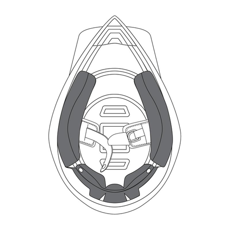 AGV AX8 Dual Evo 2015 Cheek Pads