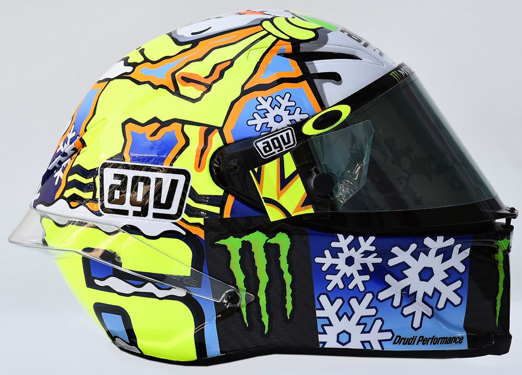 AGV Pista GP Rossi 2016 Winter Test Snowman