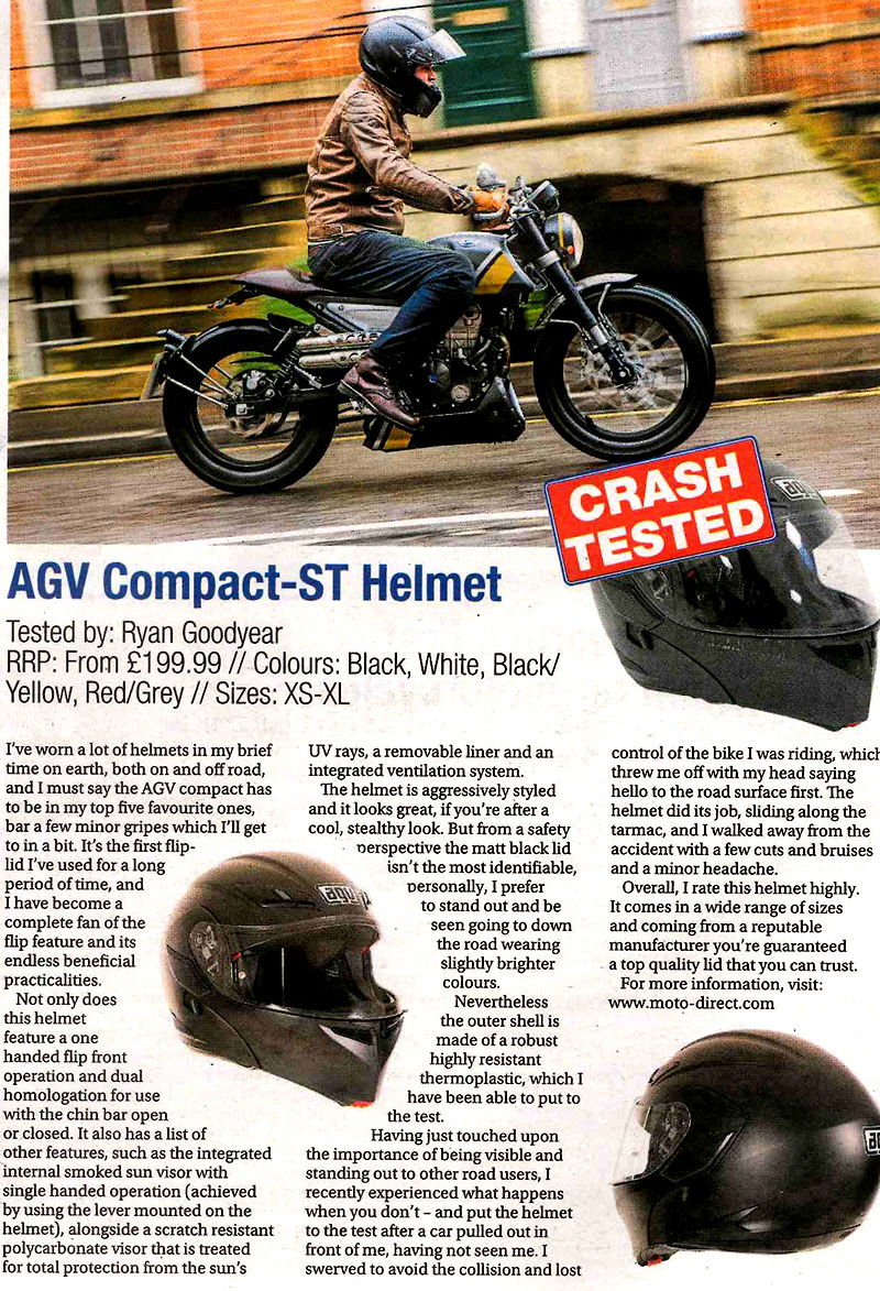 AGV Compact – ST Helmet review in Motorcycle Monthly