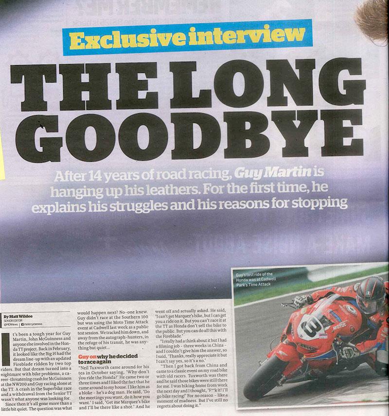 Guy Martin: The Long Goodbye