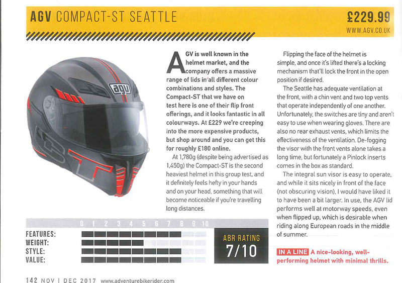 Review: AGV Compact ST Seattle
