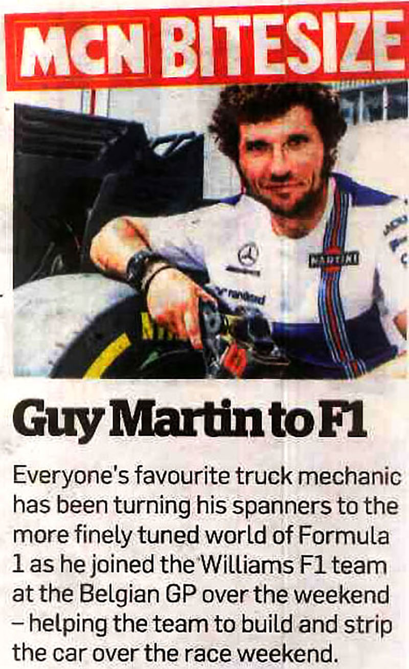 Guy Martin turns to mechanics?