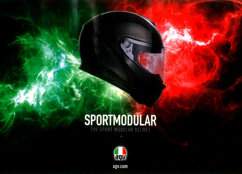 AGV Sports Modular Ad features in Ride
