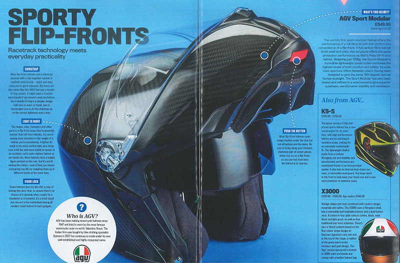 08670c7c AGV Media Features | AGV UK, motorcycle helmets for the UK.