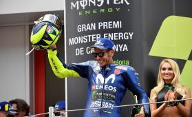 Rossi takes third place at MotoGP Catalunya