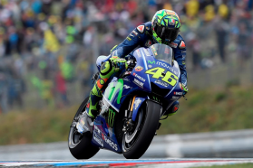 Movistar Yamaha Bank First and Third Row in Brno