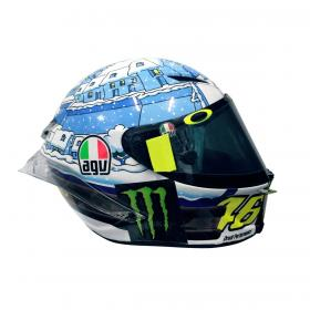 Rossi new winter test helmet at Sepang
